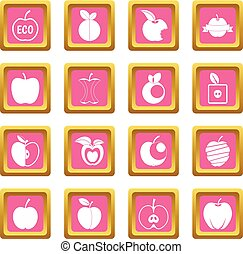 Apple icons pink