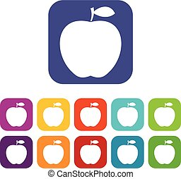 Apple icons set flat