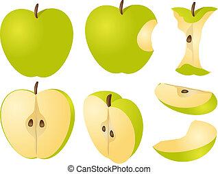 Apple illustration - Isometric 3d illustrtion of apples,...