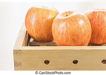 Apple in box