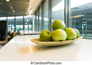 Apple in lounge or cafeteria