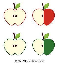 apple in red and green color design illustration