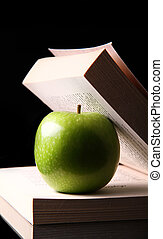 apple inside a book