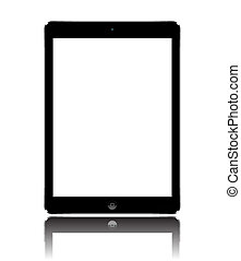 Apple iPad Air black with white screen eps 10