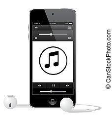 Apple Ipod touch vector eps 10