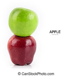 Apple isolate on white background.