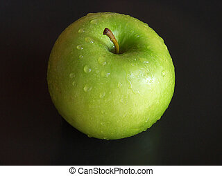 Apple isolated on a black background