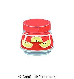 Apple Jam In Transparent Jar