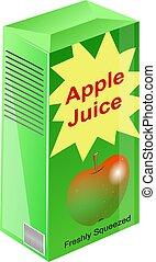 Apple Juice - Carton of apple juice illustration.