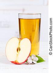 Apple juice fruit glass portrait format