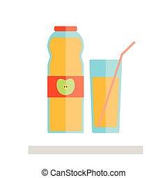 Apple juice glass