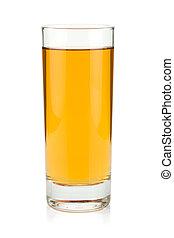 Apple juice in a glass
