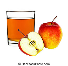 apple juice in a glass