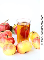 Apple juice in glass