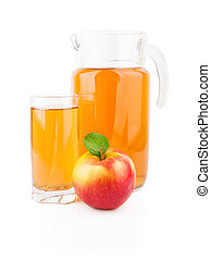 Apple juice in glass jar