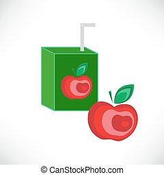 Apple juice packaging design template