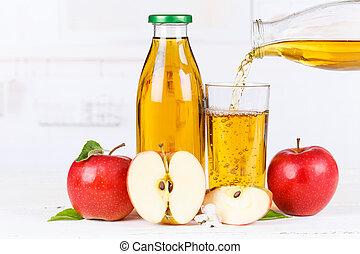 Apple juice pouring pour apples fruit fruits bottle copyspace