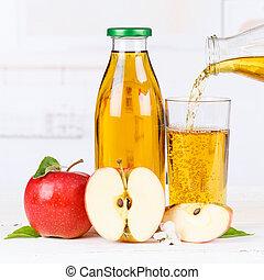 Apple juice pouring pour apples fruit fruits bottle square