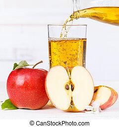 Apple juice pouring pour apples fruit fruits square