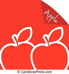 apple label design, vector illustration eps10 graphic