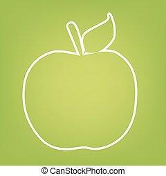 Apple line icon
