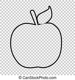 Apple line vector icon