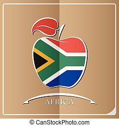 apple logo made from the flag of Africa