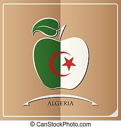 apple logo made from the flag of Algeria