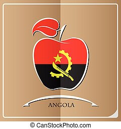 apple logo made from the flag of Angola