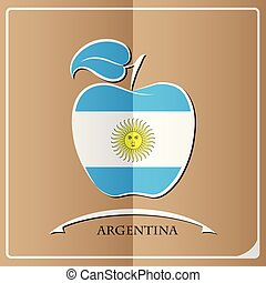 apple logo made from the flag of argentina