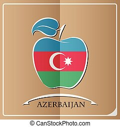 apple logo made from the flag of Azerbaijan