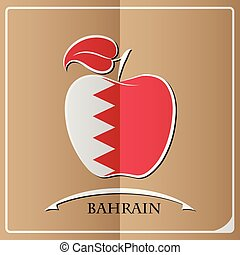 apple logo made from the flag of Bahrain