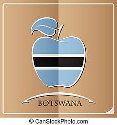 apple logo made from the flag of Botswana