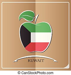 apple logo made from the flag of Kuwait