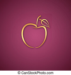 Apple logo over pink