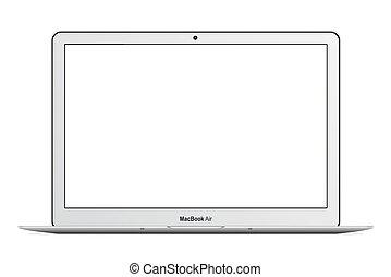 MacBook Air - Apple MacBook Air vector illustration eps 10...