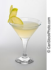 Apple martini  with an apple garnish