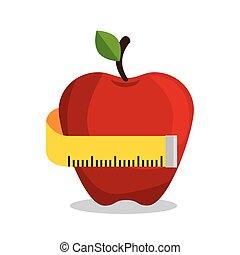 apple measuring nutrition sport