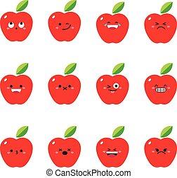 Apple modern flat emoticon set