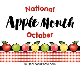 Apple Month, Red Gingham Tablecloth