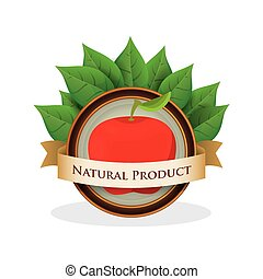 apple natural product label