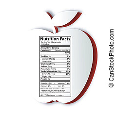 Apple nutrition facts label