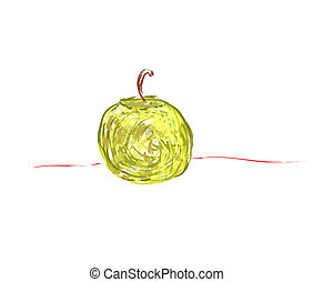apple on a white background. vector