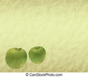 apple on grunged paper background