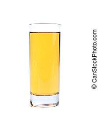 apple or grape clarified juice in glass