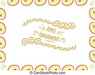 Apple ornament - fruit frame