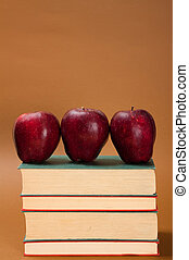 apple over books