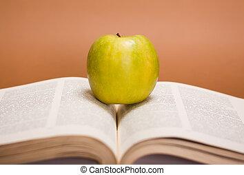apple over books