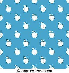 Apple pattern seamless blue