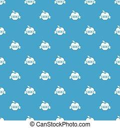 Apple pattern vector seamless blue